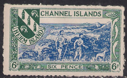 GB 1957 Guernsey Channel Islands 6d MM Herm Island Local Issue Stamp ( D690 ) - Guernsey