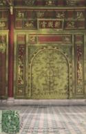 ANNAM  Hué La Porte Dorée Dans Le Vestibule D'honneur + Beau Timbre 5c Indochine RV - Vietnam