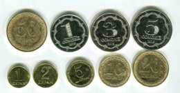 TAJIKISTAN: Ompleted 9 Coin Set Of 2019 UNC 1 Diram - 5 Somoni - Tajikistan