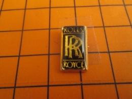 1217 Pin's Pins : BEAU ET RARE : Thème AUTOMOBILES / LOGO DE LA MARQUE ROLLS-ROYCE - Pins