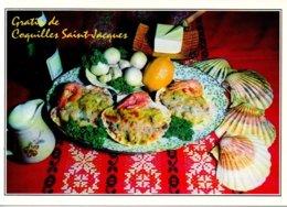 Réf. 531/ 1 CPM - Carte Postale Recette De Cuisine - Gratin De Coquilles Saint-Jacques - Recettes (cuisine)