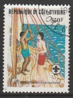 Ivory Coast 1982 The 75th Anniversary Of Boy Scout Movement 350 F Multicoloured SW 754 O Used - Ivory Coast (1960-...)