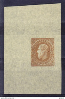 BELGIQUE, TYPE LEOPOLD II PROFIL A GAUCHE, 50 Centimes, PROOF SUR PAPIER CHINE.  (5CT37A) - Proofs & Reprints