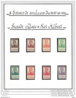BELGIQUE 8 ESSAIS DE COULEUR DU 25cts N°120, GRAND EFFIGIE, ROI ALBERT. (3T513) - Proofs & Reprints