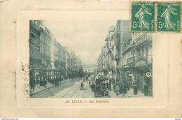 WW 59 LILLE. Rue Nationale 1911 Voitures Anciennes Et Tramway électrique - Lille