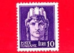 Nuovo - ITALIA - Luogotenenza - 1946 - Imperiale - Italia Turrita - 10 L. - 5. 1944-46 Lieutenance & Humbert II: