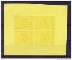 BELGIQUE COB TR 5 En Bloc De 4, Couleur Non Adoptée.  (5CT38) - Proofs & Reprints