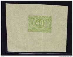 BELGIQUE, SERIE CHEMIN DE FER 1882 - 1894, 40 Centimes, PROOF SUR PAPIER CHINE.  (5CT36) - Proofs & Reprints