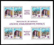 1990 Monaco I EUROPA CEPT EUROPE 4 Serie Di 2v. In Foglietto MNH** Souv. Sheet - 1990