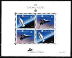 1991 Portogallo Azzorre Portugal Azores EUROPA CEPT EUROPE Foglietto Spazio MNH** Souv. Sheet - 1991