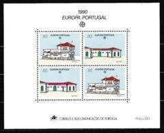 1990 Portogallo Portugal EUROPA CEPT EUROPE Foglietto MNH** Souv. Sheet - 1990