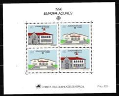 1990 Portogallo Azzorre Portugal Azores EUROPA CEPT EUROPE Foglietto Spazio MNH** Souv. Sheet - 1990