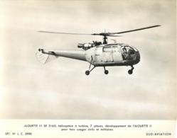GRANDE PHOTO ORIGINALE  HELICOPTERE ALOUETTE III SE 3160  FORMAT  23 X 18 CM - Aviation