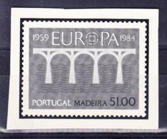 PORTUGAL MADEIRE 1984,, EPREUVE DU YT 95? SUR CARTON FORT? Non Dentelé. (MAD84) - Europa-CEPT