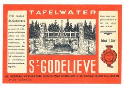 Etiquette TAFELWATER ST GODELIEVE  M Herman VERHAEGHE * Heule Watermolen - Autres