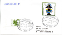 "(Bu-B3) BRD Sonderstempel-Beleg ""BM-GEDENKAUSSTELLUNG"" MiF DDR Mi 3345, BRD Mi 1486, SSt.9.11.1991 TUTLINGEN 1 - Covers & Documents"