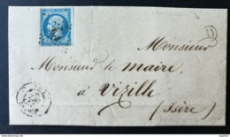 Aveyron. Lettre (De Lanuéjouls) Avec Cachet De Rignac.Boite Rurale.Pour Vizille Isère - Poststempel (Briefe)