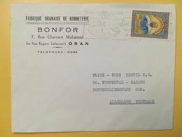 1969 BUSTA INTESTATA ALGERIA ALGERIE BOLLO EMIR ABD-EL-KADER'S ETICHETTA BOUZADJAR PLAGE STORIA POSTALE - Algeria (1962-...)