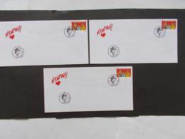 BELGIQUE  -   LOT DE  3 Enveloppes   Themes  De La BD  Année 1995 Du N° 2619  ( 38 ) - Cartes Souvenir
