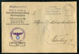 """Deutsches Reich / 1938 / Brief """"Frei Durch Abloesung"""" Ex Fuerth, Abs. Heeresstandortverwaltung (0848) - Germany"""
