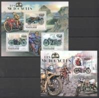 TG1052 2011 TOGO TOGOLAISE TRANSPORTATION LES MOTOCYCLES 1KB+1BL MNH - Motorfietsen