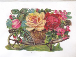 DECOUPI FLEURS DANS BROUETTE - Flowers