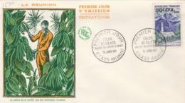 Réunion  FDC Yvert 352A Cilaos 16/1/1960 - Brieven En Documenten