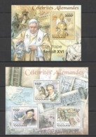 TG1070 2011 TOGO TOGOLAISE FAMOUS GERMAN PEOPLE POPE BENOIT XVI WAGNER KB+BL MNH - Famous People
