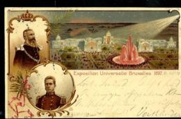 Carte N° 1    Obl. Bruxelles  17/06/1897 Pour La Bavière - Tarjetas Ilustradas