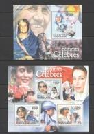 TG1078 2011 TOGO TOGOLAISE FAMOUS WOMEN MARIA TERESA INDIRA GANDHI KB+BL MNH - Famous Ladies
