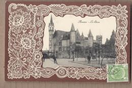 CPA BELGIQUE - ANVERS - Le Steen - TB PLAN Château - Photo Entourée Frise Gauffrée - Belgique