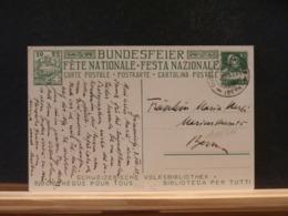 A11/311 CP  SUISSE  1922  OBL. - Interi Postali