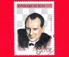 Nuovo Oblit. - BENIN - 1999 - Giocatori Di Scacchi - Chess - Alexander Alekhin - 270 - Benin – Dahomey (1960-...)