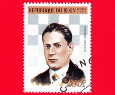 Nuovo Oblit. - BENIN - 1999 - Giocatori Di Scacchi - Chess - José Raul Capablanca - 200 - Benin – Dahomey (1960-...)
