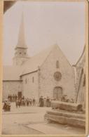 Photo Originale Sur Carton Octobre 1904  Bonchamps Les Laval église - Plaatsen