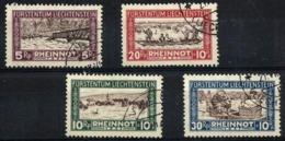 Liechtenstein Nº 78/81 Usados. Cat.130€ - Liechtenstein