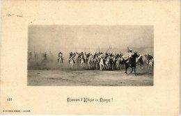 CPA 155 Chasseurs D'Afrique -- Chargez!. Ed. Geiser ALGERIE (69703) - Algérie