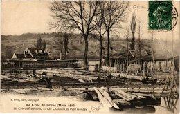 CPA CHOISY-au-BAC Les Chantiers Du Pont Inondes (424341) - Frankrijk