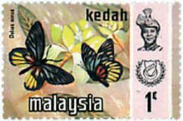 Ref. 598256 * NEW *  - MALAYSIA. KEDAH . 1971. BUTTERFLIES. MARIPOSAS - Malasia (1964-...)