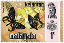 Ref. 598165 * NEW *  - MALAYSIA. KELANTAN . 1971. BUTTERFLIES. MARIPOSAS - Malasia (1964-...)