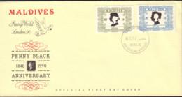Ref. 372387 * NEW *  - MALDIVES . 1990. 150th ANNIVERSARY OF THE FIRST POST STAMP. 150 ANIVERSARIO DEL PRIMER SELLO - Maldivas (1965-...)