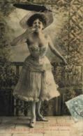 CHARMEUSE  Jeune Femme Chapeau à Plume Epaules Nues ..Recto Verso - Femmes