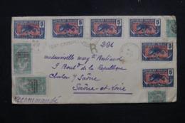 OUBANGUI - Affranchissement Plaisant Sur Enveloppe En Recommandé De Fort Crampel Pour La France En 1925 - L 45697 - Brieven En Documenten