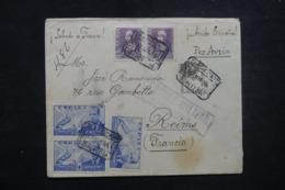 ESPAGNE - Censure De Barcelone Sur Enveloppe En Recommandé Pour La France En 1939 - L 45702 - Nationalistische Zensur