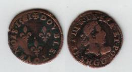France Double Tournois; Henri III; 1581 G (Poitiers) ; 3.0gr, - 987-1789 Monnaies Royales