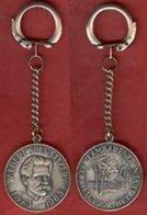 ** PORTE - CLEFS  ALBERT  SCHWEITZER  1875 - 1965  +  CARTE ** - Key-rings