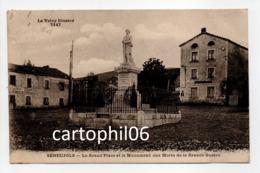 - CPA SÉNEUJOLS (43) - La Grand'Place Et Le Monument Aux Morts De La Grande Guerre (RESTAURANT VESPEISSE) - - France