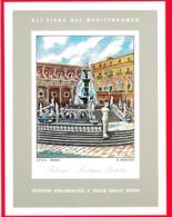 ITALIA - Palermo - Foglietto - IPZS - Erinnofilia - XLI Fiera Del Mediterraneo - Fontana Pretoria - Erinnofilia