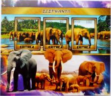 Érythrée Éléphants Faune Block Private 2018 Edition - Elefantes