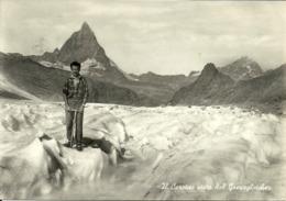 Cervino (Aosta) Panorama Dal Greuzgletcher E Scalatore - Aosta